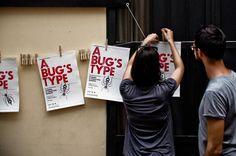 A Bug's Type - Poster Design by Ivan D'Urso, via Behance