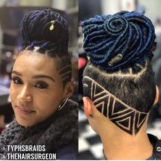 10 Braided Protective Styles to Wear This Summer - Voice of Hair Shaved Side Hairstyles, Faux Locs Hairstyles, Girl Hairstyles, Wedding Hairstyles, Haare Tattoo Designs, Undercut Hair Designs, Curly Hair Styles, Natural Hair Styles, Undercut Natural Hair