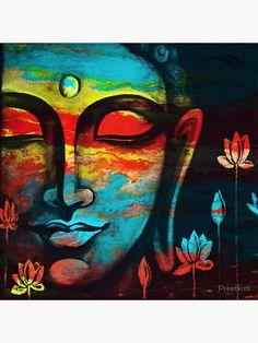 Budha Painting, Ganesha Painting, Peace Painting, Zen Painting, Buddha Artwork, Buddha Wall Art, Arte Ganesha, Buddha Drawing, Buddha Peace