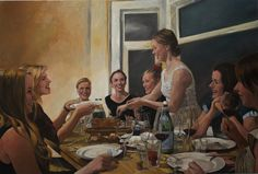 """The dessert"" Roeland Kneepkens Oil on canvas 2014"