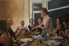 """The dessert"" Roeland Kneepkens Oil on canvas 2014"