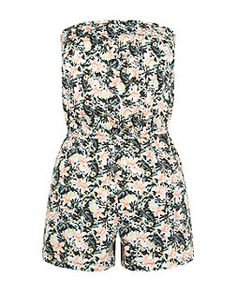 Combi-short bandeau blanche ado à imprimé floral   New Look Imprimés  Floraux, Vetement b59b6bb4f210