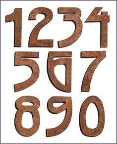 frank loyd wright house numbers, love love love! if only ORB and not copper $22.99 ea