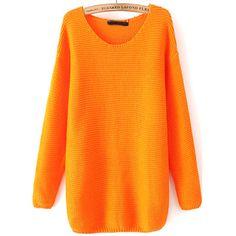 32,90EUR Pullover orange mit Rundhalsausschnitt