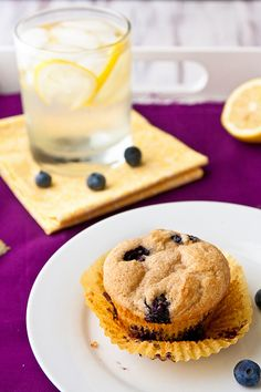 I have been on a Breakfast kick recently - Lemon Blueberry Muffins