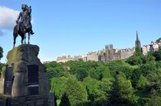 Edinburgh.  Great view over the Princes Street Gardens.