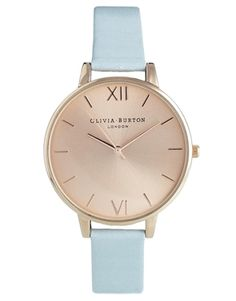 Enlarge Olivia Burton Blue Big Dial Watch #ghdpastelscollection #goodhairday