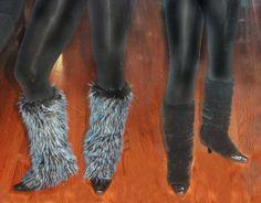Furry Leg Warmers tutorial                                                                                                                                                                                 More