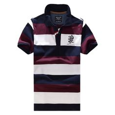 QualityUC Mens 2014 New Arrival Horizontal Sailor Polo Shirt