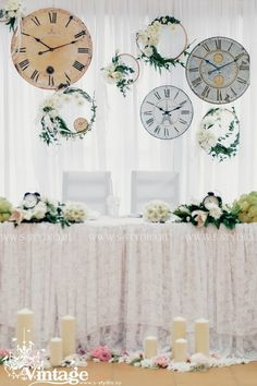 Vintage wedding style: The clock theme