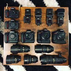 Love this #beautiful collection of Nikon gear by @bs458 #nikon #camera #gear #D800 #d810 #lens #rentorlend #cameras #nikonlove