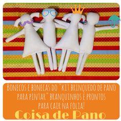 Brinquedos de pano para pintar! www.coisadepano.blogspot.com www.facebook.com/coisadepanobabi