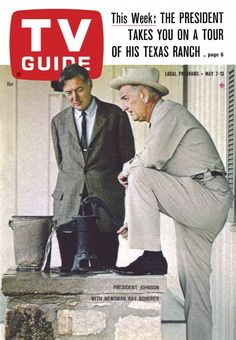 TV Guide: May 7, 1966 - President Lyndon Baines Johnson with Newsman Ray Scherer