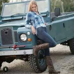 Land Rover 109 Serie IIA Soft Top with a top girl. Perfect for me.