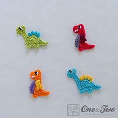 Dinos - Cute Dinosaur Appliques