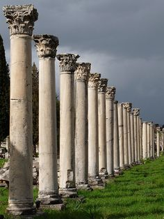Portico columns in the Agora, Ephesus, Turkey