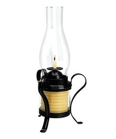 40-Hour Black Candle by the Hour Hurricane Lantern | zulily