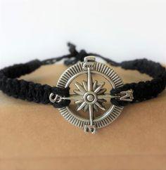 Men's bracelets // black bracelet for men // by BanSisDesign