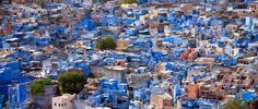 Blue houses are not restricted to Andalusia, though. There is also the Brahman Blue City of Jodhpur in Rajasthan, northern India. Residents paint their houses a deep shade of blue using the indigo plant that is native to the country. Deeper Shade Of Blue, Shades Of Blue, Yosemite National Park, National Parks, Blue Houses, Indigo Plant, Blue City, Slums, Jodhpur