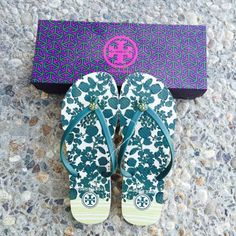 {Tory Burch} Flip-flops Brand new in box, never been worn. Please be familiar/know your own Tory Burch sizing, these don't come in half size. ❗️Price is firm, unless bundled❗️   ❌ NO TRADES - SELLING ON POSH ONLY ❌ ❌ NO LOWBALLING ❌  ✅ Bundle Discounts ✅ Ship Next Day of Purchase  💯 % AUTHENTIC Tory Burch Shoes Sandals