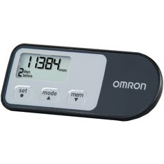 Omron Pedometer with calories burned.