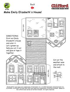 PBS Kids - Clifford the Big Red Dog - Printables - Emily Elizabeth's house