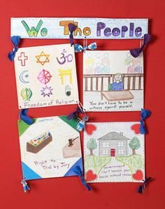 We the People Quilt - Bill of Rights. Great for my We the People Units.