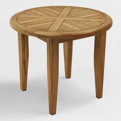 Shop Outdoor Interiors Round Teak Outdoor Accent Table at Lowe's Canada. Find our selection of outdoor end tables at the lowest price guaranteed with price match. Teak Furniture, Patio Furniture Sets, Outdoor Furniture, Outdoor Decor, Outdoor End Tables, Patio Table, Metal Side Table, Side Tables, Teak Wood