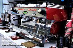 La Marzocco FB/80 espresso machine. Beautifully iconic.