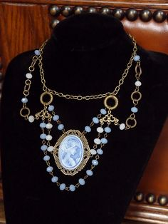 Victorian/Steampunk necklace by The Black Cat Designs