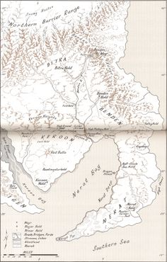 Eastern side of the northern continent | Atlas of Pern.