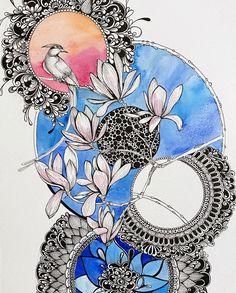 Mandala Art Therapy, Mandala Art Lesson, Mandala Artwork, Mandala Painting, Mandala Drawing, Paper Art Design, Tanjore Painting, Picts, Zentangles