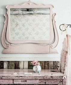 Sweet little vanity set-up. Every girl should have a pretty little spot like this