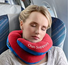 There are lots of red-eye flight tips to help you sleep on a plane. Here's just what you need, like a neck support pillow for travel. Sweet dreams.