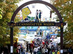 Cannstatter Volksfest in Germany.  2nd largest festival in Germany, after the Oktoberfest.