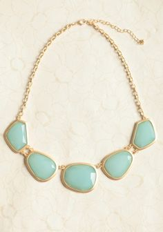 OOS Mint Pebbles Necklace | Ruche