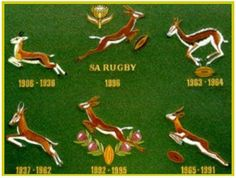 Springboks emblem over the years Over The Years, Movie Posters, Film Poster, Film Posters