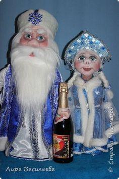 Куклы Новый год Шитьё Дедушка Мороз - бар Это третья кукла которую я сотворила   Бутылки пластиковые Капрон Мех Ткань фото 13