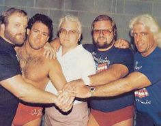 The Four Horsemen Ole Anderson, Tully Blanchard, J. Dillon, Arn Anderson and Ric Flair in 1986 Nwa Wrestling, Wrestling Stars, Wrestling Superstars, Ufc, Arn Anderson, Ric Flair, Professional Wrestling, Wwe Wrestlers, Lucha Libre