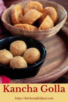 Bengali Kancha Golla or Pran Hara Recipe step by step Bangladeshi Food, Bengali Food, Bangladeshi Recipes, Indian Dessert Recipes, Indian Sweets, Dessert Ideas, Paneer Recipes, Veg Recipes, Pudding Recipes