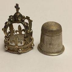 Very Rare Antique Solid Silver 1952-1977 Queen Elizabeth Silver Jubilee Thimble   eBay