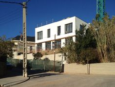 White house view from the street | A House by 08023 Architects in Barcelona | #Houses