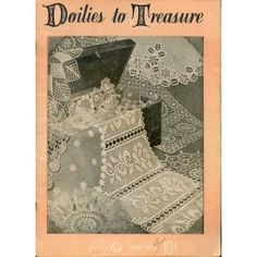 Doilies Vanity Sets Placemats Coasters Buffet Scarf Vintage Crochet Patterns