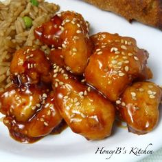 Honey Sesame Chicken... There is no sesame chicken in Sweden. I'm always searching for a recipe that will curb my sesame chicken cravings!