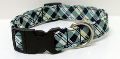 A Gentlemans Plaid Printed Handmade Dog Collar by GoneDoggie