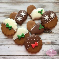 Mmmm...chocolate covered gingerbread . #littlemissmoffatcookies #gingerbread #christmascookies