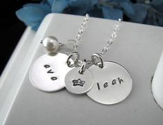 Sterling Silver Charms 2 Disc 5/8 Layer Hand by auctionprincess, $50.00