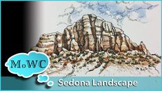 A watercolor landscape, ink and wash demonstration in this video. The subject is an awesome rock formation from a Sedona, Arizona photo I took. In this metho. Watercolor Video, Pen And Watercolor, Watercolour Tutorials, Watercolor Techniques, Watercolor Landscape, Watercolor Paintings, Simple Watercolor, Watercolours, Art Tutorials