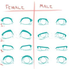 How To Draw Different Anime Eyes, Step by Step, Drawing Guide, by BuiBui