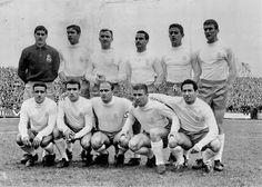 EQUIPOS DE FÚTBOL: REAL MADRID contra Real Zaragoza 05/03/1961